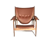mid-century classic lounger in leather